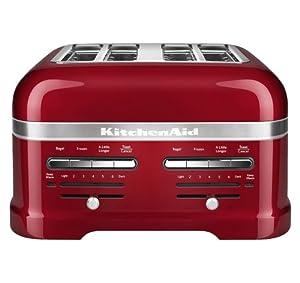 KitchenAid KMT4203CA Candy Apple Red 4-Slice Pro Line Toaster
