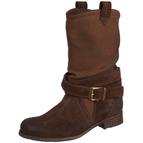 Maruti Women's Marianne Brown Suede Canvas Ankle Boot 66.30125.1054 6.5 UK