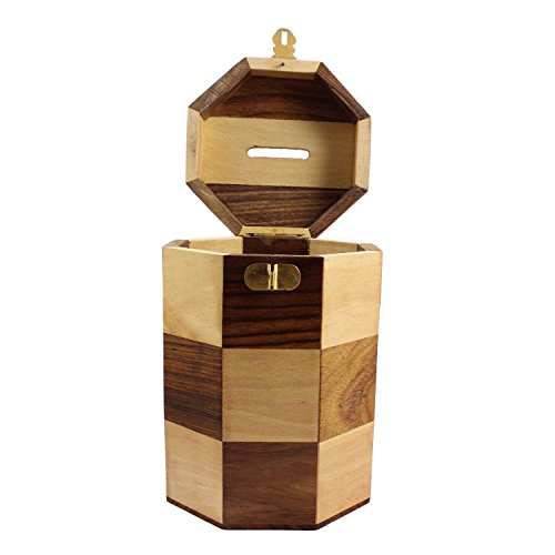 Safe Money Box Wood Piggy Bank Coin Storage Box Gifts For