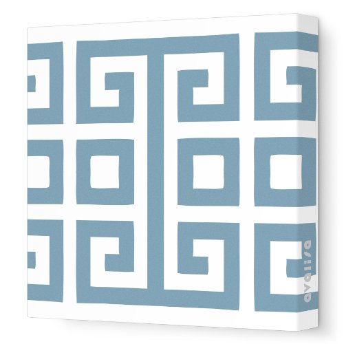 "Avalisa Stretched Canvas Nursery Wall Art, Big Square, Blue Gray, 18"" x 18"""