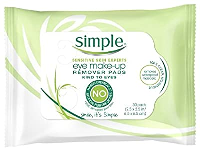 Simple Eye Make-Up Remover Pad, 30 Count