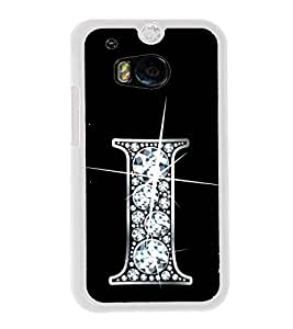 Alphabet I 2D Hard Polycarbonate Designer Back Case Cover for HTC One M8 :: HTC M8 :: HTC One M8 Eye :: HTC One M8 Dual Sim :: HTC One M8s