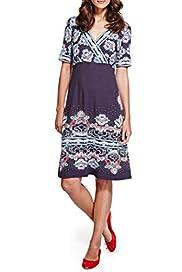 Per Una Floral & Spotted Dress [T62-6686J-S]