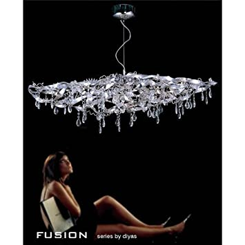 Fusion Pendant 10 Light Round Polished Chrome/Crystal   *Special Discount