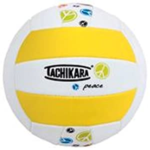Buy Tachikara SofTec Peace Indoor Outdoor Volleyball, Yellow White by Tachikara