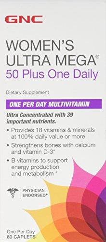 GNC Women′s ULTRA MEGA 50 Plus One Daily 60 caplets