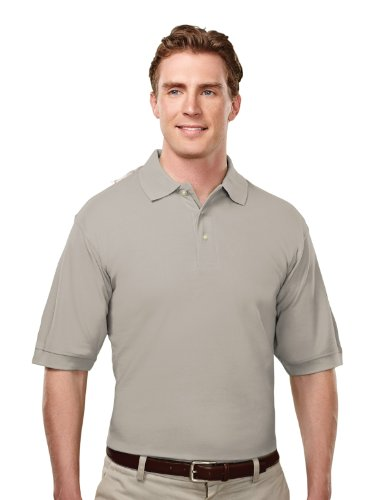 Tri-Mountain Mens Cotton Baby Pique Golf Shirt. 188Tm - Heather Gray_Xl front-735033