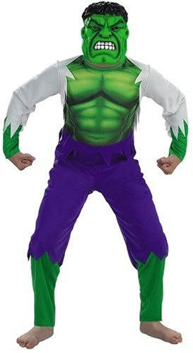 Kid'S Deluxe Incredible Hulk Costume (Large 10-12) front-1002391
