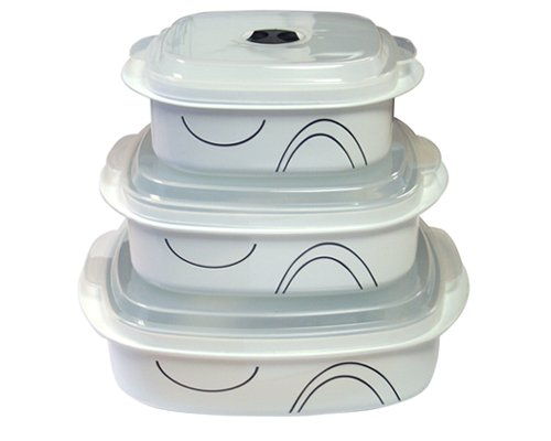 Corelle Coordinates Simple Lines 6-Piece Microwave Cookware Set