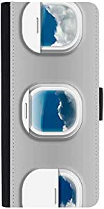 Snoogg Airplane Windows Designer Protective Phone Flip Case Cover For Intex Eco 102E