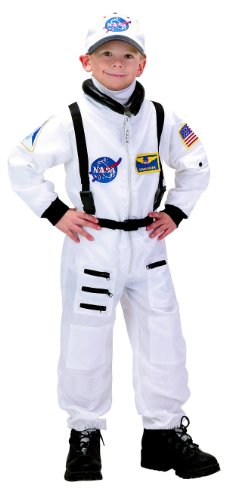 AEROMAX - NASA Jr. Astronaut Suit White Toddler/Child Costume - Large (12-14)