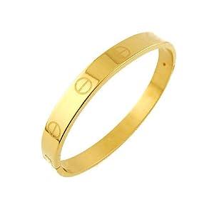Women's Designer inspired Love Gold Titanium Steel Screw Bracelet Bangle Perfect GIFT for Her NO BOX!