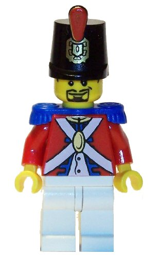Imperial Soldier (Shako Hat, Black Goatee) - LEGO Pirates Minifigure (Lego Pirates Imperial Soldiers compare prices)