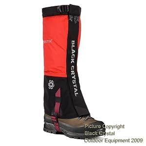 Guêtres randonnée trekking pour femmes Black Crystal en nylon imperméable couleur rouge tailles 41-43