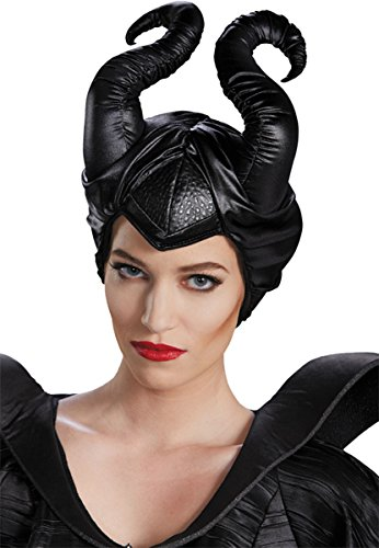 Morris Costumes Women's MALEFICENT HORNS CLASSIC, Black, One size