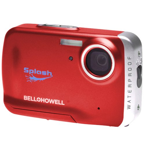 Bell and Howell WP5-R Splash WP5 12MP Waterproof Digital Camera with 2 GB Memory Card (Red)