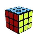 Benran ルービックキューブ 3×3×3 スムーズ回転 立体パズル 競技用 ポップ防止 スピードキューブ (黒素体)