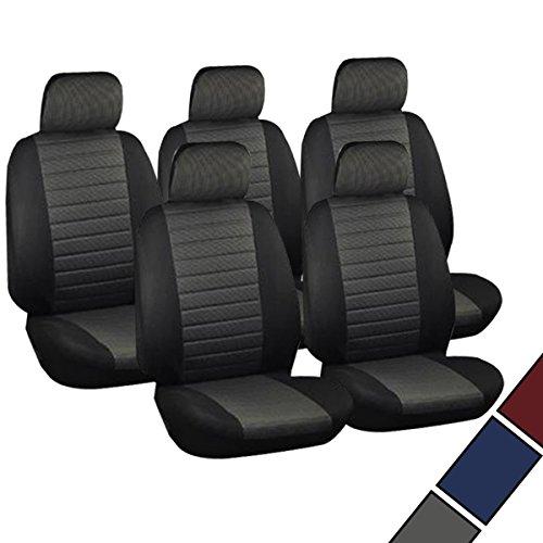 VAN-Sitzbezge-Schonbezge-Sitzbezug-universal-5x-Sitzer-Sitze-Kariert-Grau-AS7231