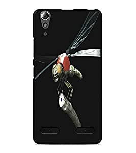 PrintDhaba Metaalic Fly D-5431 Back Case Cover for LENOVO A6000 (Multi-Coloured)