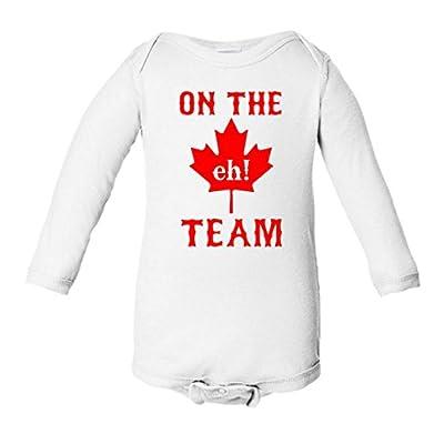 On The Eh Team Canada Infant Long Sleeve Bodysuit