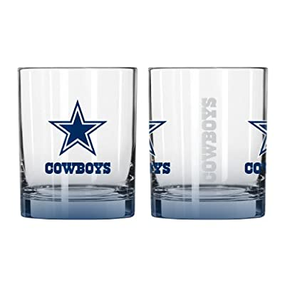 NFL Dallas Cowboys Elite Rocks Glass, 14-ounce, 2-Pack