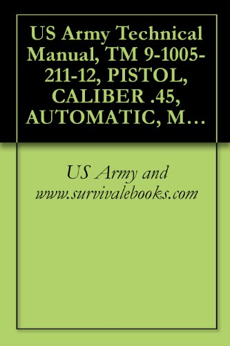 US Army Technical Manual, TM 9-1005-211-12, PISTOL, CALIBER .45, AUTOMATIC, M1911A1, WITH HOLSTER, HIP (1005-673-7965) AND PISTOL, CALIBER .45, AUTOMATIC, ... HOLSTER, SHOULDER (1005-561-2003), 1968 PDF