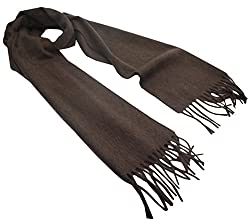 100% Cashmere Scarf From Inner Mongolia in Brown - hcs-008