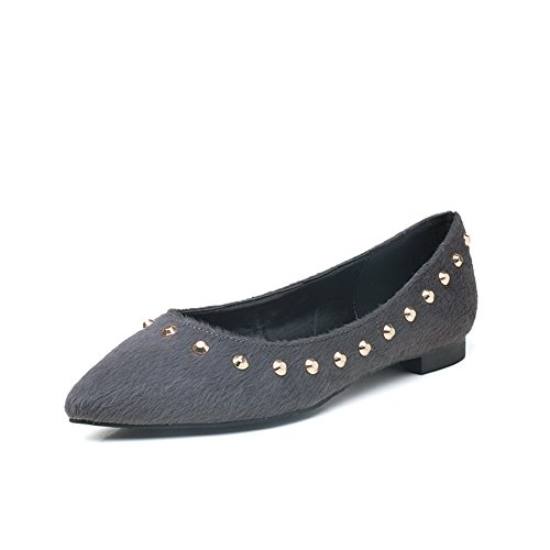 summer ladies chaussures de mariage /Chaussures de mariée/orteils pointus chaussures/Chaussures plates femmes/ Rivet chaussures pied plat