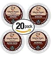20-count K-cup For Keurig Brewers Coffee Flavored Variety Pack Featuring Gloria Jean Coffee Cups
