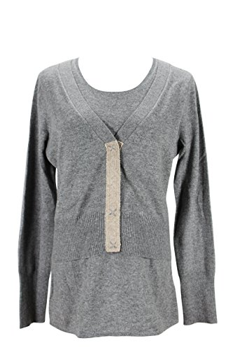 paule-ka-womens-cardigan-sweater-size-xl-us-regular-grey-wool