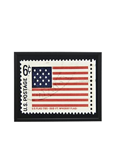 McHenry Flag Stamp Black Shadowbox Art
