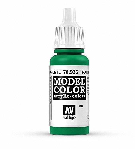 Vallejo Transparent Green Paint, 17ml - 1