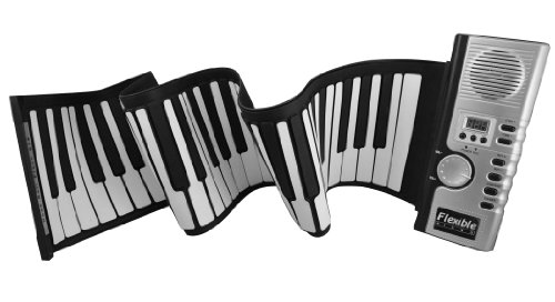 61 Keys Keyboard Silicone Roll Up Electronic Piano Musical Instrument W/ Lcd ...
