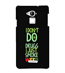 printtech Cool Quotes Weed Back Case Cover for Coolpad Note 3 Lite Dual SIM with dual-SIM card slots