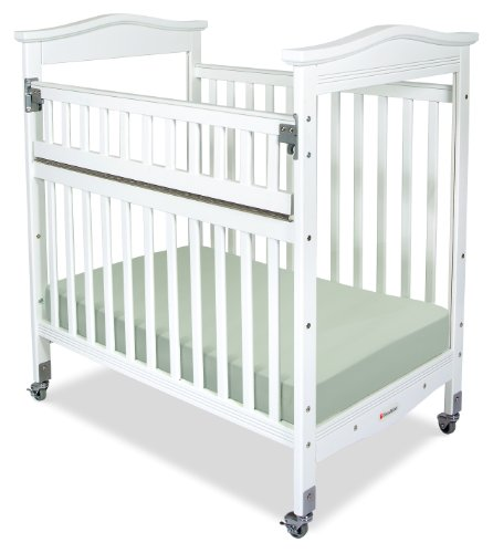 Foundations Biltmore Safereach Compact Crib, Clearview, White, 0-36 Months