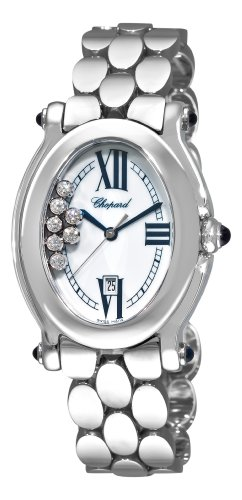 Chopard Women's 278418-3002 Happy Sport Oval Mother-Of-Pearl Dial Watch