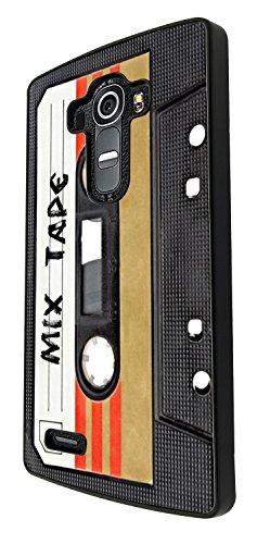 1082 - Cool fun mix tape casette player retro music dance hip hop rnb boom box Design For LG G4 Fashion Trend CASE Back COVER Plastic&Thin Metal - Black
