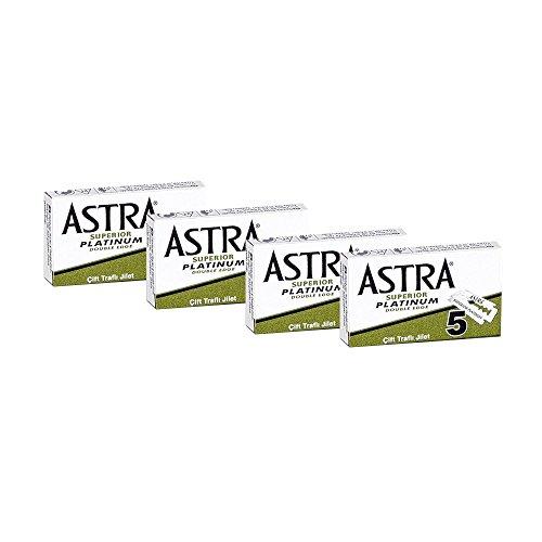 20 Lamette da barba Astra superior platinum - Astra verdi