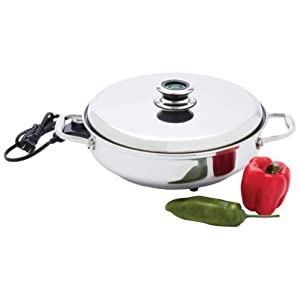 Chefs Secret T304 Stainless Steel Electric Skillet Amazon