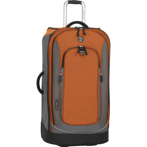 Timberland Luggage Claremont 30-Inch Upright Suitcase, Burnt Orange/Grey, One Size best offers