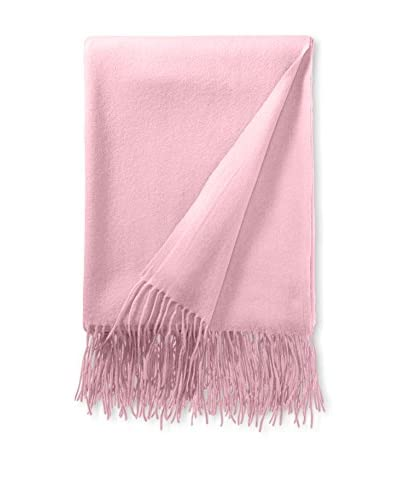 a & R Cashmere Wool & Cashmere Waterweave Throw, Rose As You See