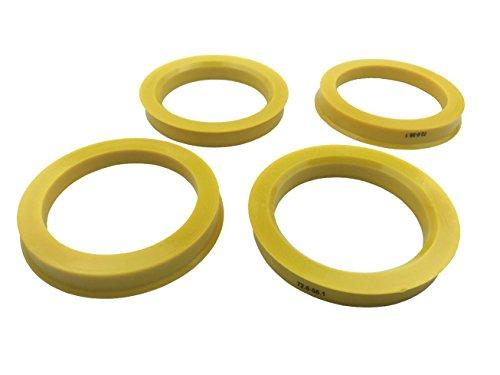 [해외]4 조각 - 허브 중심 반지 - 56.1mm의 ID에 72.6mm의 OD - 노란색 폴리 카본 허브 반지/4 Pieces - Hub Centric Rings - 72.6mm OD to 56.1mm ID - Yellow