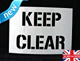 Reusable A5 size Keep Clear Sign Stencil
