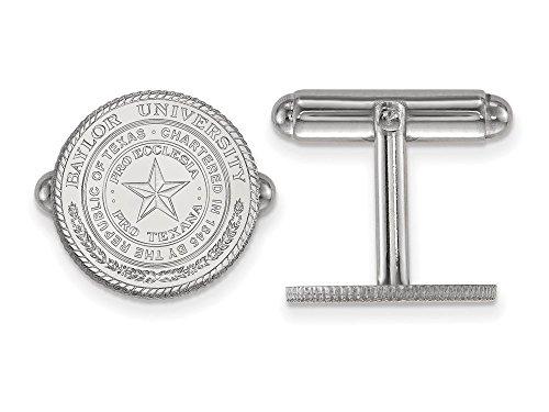 Baylor Crest Cuff Links (Sterling Silver)