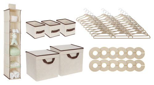 Delta Children 48 Piece Nursery Storage Set, Beige