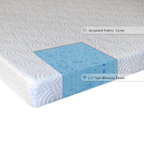 sleep master 2 5 inch gel memory foam mattress topper queen best price fioppo. Black Bedroom Furniture Sets. Home Design Ideas