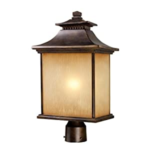 Click to read our review of Outdoor Post Lighting: ELK Lighting San Gabriel 1-Light Outdoor Post Light In Hazelnut Bronze