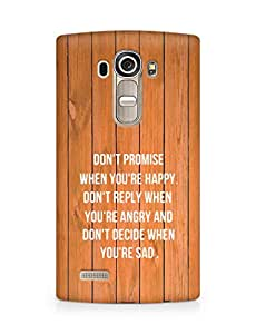 AMEZ dont promise when you are happy Back Cover For LG G4