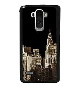 City Scape 2D Hard Polycarbonate Designer Back Case Cover for LG G4 Stylus