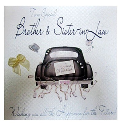 WB9 Sister and Brother in Law Wedding Card